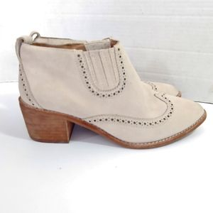 Madewell Grayson brogue western Chelsea boots